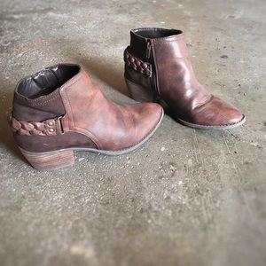 AE • Boho Braided Brown Chelsea Boots